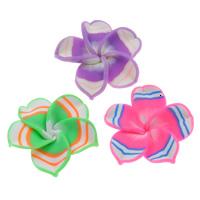 Бусины из полимерной глины, полимерный клей, Форма цветка, Связанный вручную, разноцветный, 30x10mm, отверстие:Приблизительно 1mm, 100ПК/сумка, продается сумка