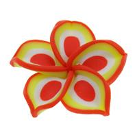 Бусины из полимерной глины, полимерный клей, Форма цветка, Связанный вручную, 30x9mm, отверстие:Приблизительно 1mm, 100ПК/сумка, продается сумка