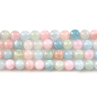 Morganite Beads, Round, natural, different size for choice, Grade AAAA, Sold Per Approx 15 Inch Strand