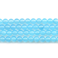 Blue Chalcedony Beads, Round, natural, different size for choice, Sold Per Approx 15 Inch Strand