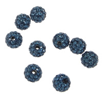 Czech Rhinestone Beads Clay Pave Round with 50 pcs rhinestone   with Czech rhinestone 6mm Hole:Approx 1.5mm 10PCs/Bag