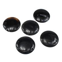 Wisiorki z czarnym agatem, Agat czarny, Płaskie koło, 50x50x7mm, otwór:około 2mm, 30komputery/wiele, sprzedane przez wiele