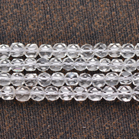 Natural Clear Quartz Beads, different size for choice & faceted, Length:Approx 15 Inch, Sold By Lot