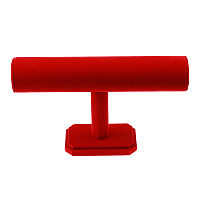 Velveteen Bracelet Display, with Silicone, red, 245x152x66mm, 10PCs/Lot, Sold By Lot