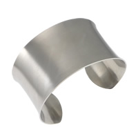 Stainless Steel Cuff Bangle, original color, 38mm, Inner Diameter:Approx 66x52mm, Length:Approx 7.5 Inch, Sold By PC