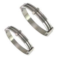 Stainless Steel Bangle, different size for choice, original color, Inner Diameter:Approx 61x54mm, Length:Approx 7.5 Inch, Sold By PC