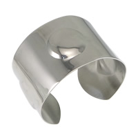 Stainless Steel Cuff Bangle, original color, 40mm, Inner Diameter:Approx 60x55mm, Length:Approx 7 Inch, Sold By PC