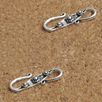 Thailand Sterling Silver S Shape Clasp, 16x5x2mm, 40PCs/Lot, Sold By Lot