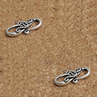 Thailand Sterling Silver Hook and Eye Clasp, 12x6x1.50mm, 50PCs/Lot, Sold By Lot
