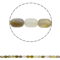 Natural Grey Agate Beads, Column, 10x14mm, Hole:Approx 1mm, Approx 28PCs/Strand, Sold Per Approx 15.7 Inch Strand