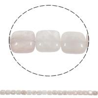 Natuurlijke Rose Quartz parels, Rozenkwarts, Plein, 12x5mm, Gat:Ca 1mm, Ca 33pC's/Strand, Per verkocht Ca 15.3 inch Strand