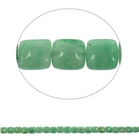 Green Aventurine Beads, Square, natural, 12x6mm, Hole:Approx 1mm, Approx 33PCs/Strand, Sold Per Approx 15.7 Inch Strand