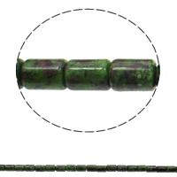 Ruby in Zoisite Beads, Column, 10x14mm, Hole:Approx 1mm, Approx 28PCs/Strand, Sold Per Approx 15.3 Inch Strand