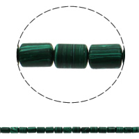 Malachite Beads, Column, 10x14mm, Hole:Approx 1mm, Approx 28PCs/Strand, Sold Per Approx 15.7 Inch Strand