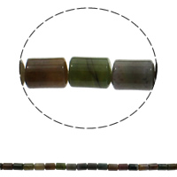 Natural Indian Agate Beads, Column, 10x14mm, Hole:Approx 1mm, Approx 28PCs/Strand, Sold Per Approx 15.7 Inch Strand
