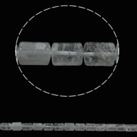 Natural Clear Quartz Beads, Column, 10x14mm, Hole:Approx 1mm, 28PCs/Strand, Sold Per Approx 15.3 Inch Strand