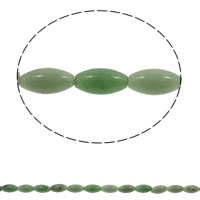 Green Aventurine Beads, Oval, natural, 10x21mm, Hole:Approx 1mm, 20PCs/Strand, Sold Per Approx 15.7 Inch Strand