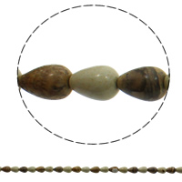 Natural Picture Jasper Beads, Teardrop, 10x14mm, Hole:Approx 1mm, 28PCs/Strand, Sold Per Approx 15.7 Inch Strand