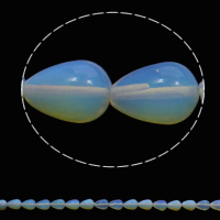 Sea Opal Beads, Teardrop, 10x14mm, Hole:Approx 1mm, 28PCs/Strand, Sold Per Approx 15.7 Inch Strand