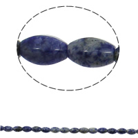 Natural Blue Spot Stone Beads, Oval, 10x15mm, Hole:Approx 1mm, 28PCs/Strand, Sold Per Approx 15.7 Inch Strand