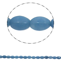 Dyed Marble Beads Oval blue 10x15mm Hole:Approx 1mm 28PCs/Strand Sold Per Approx 15.7 Inch Strand
