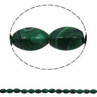Malachite Beads, Oval, 10x15mm, Hole:Approx 1mm, 28PCs/Strand, Sold Per Approx 15.7 Inch Strand