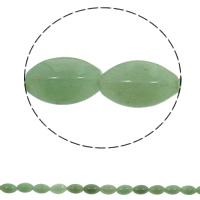 Natural Aventurine Beads, Green Aventurine, Oval, 10x15mm, Hole:Approx 1mm, 28PCs/Strand, Sold Per Approx 15.7 Inch Strand