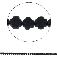 Natural Blue Goldstone Beads, Cross, 8x4mm, Hole:Approx 1mm, 50PCs/Strand, Sold Per Approx 16 Inch Strand