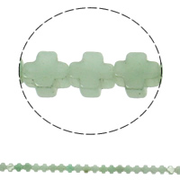 Natural Aventurine Beads, Green Aventurine, Cross, 8x4mm, Hole:Approx 1mm, 50PCs/Strand, Sold Per Approx 16 Inch Strand