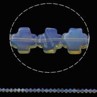 Sea Opal Beads, Cross, 8x4mm, Hole:Approx 1mm, Approx 50PCs/Strand, Sold Per Approx 16 Inch Strand