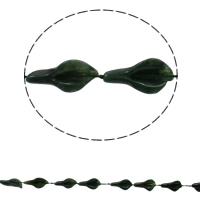 Natural Unakite Beads, Leaf, 16x28x8mm, Hole:Approx 1mm, Approx 12PCs/Strand, Sold Per Approx 16.5 Inch Strand