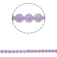 Natural Amethyst Beads, Round, February Birthstone & different size for choice, Hole:Approx 1.5mm, Sold Per Approx 15.3 Inch Strand