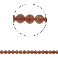 Sunstone Beads, Round, natural, different size for choice, Hole:Approx 1.5mm, Sold Per Approx 15.7 Inch Strand
