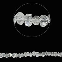 Natural Clear Quartz Beads, faceted, 13-14mm, Hole:Approx 1.5mm, Approx 42PCs/Strand, Sold Per Approx 15.7 Inch Strand