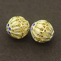 Cloisonne kulki srebrne, Cloisonne srebro, Koło, Platerowane prawdziwym złotem, różnej wielkości do wyboru & pusty, sprzedane przez wiele