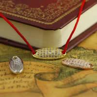 Цирконий Micro Pave стерлингового серебра Разъем, Серебро 925 пробы, Плоская овальная форма, Другое покрытие, инкрустированное микро кубического циркония & 1/1 петля, разноцветный, 6.90x15.90x2.60mm, отверстие:Приблизительно 1-2mm, 10ПК/Лот, продается Лот