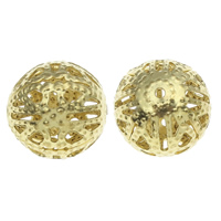 Iron Sieraden Kralen, Ijzer, Ronde, gold plated, hol, nikkel, lood en cadmium vrij, 13mm, Gat:Ca 1mm, 1000pC's/Bag, Verkocht door Bag
