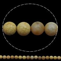 Natuurlijke Crackle Agaat parels, Ronde, verschillende grootte voor keus, lichte koffie, Gat:Ca 1mm, Lengte:Ca 15 inch, Verkocht door Lot
