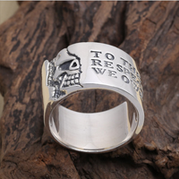 Thailand Sterling Silver Finger Ring, different size for choice, 14mm, Hole:Approx 1-3mm, Sold By PC