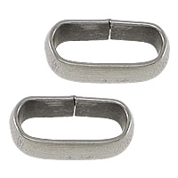 Stainless Steel Bracelet Finding, Oval, original color, 10.50x6x3.50mm, Hole:Approx 8x3.5mm, 2000PCs/Lot, Sold By Lot