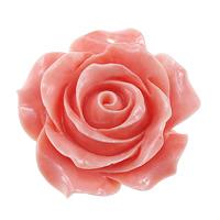 Karbowany olbrzymi Wisior, Rzeźbiony gigant, Kwiat, Rzeźbione, różowy, 36x35x16mm, otwór:około 2mm, 5komputery/wiele, sprzedane przez wiele