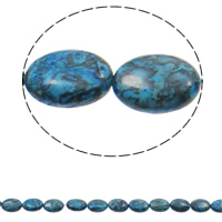 Dyed Marble Beads Flat Oval blue 13x18x5mm Hole:Approx 1.5mm Approx 22PCs/Strand Sold Per Approx 15.3 Inch Strand