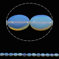 Sea Opal Beads, Flat Oval, 13x18x5mm, Hole:Approx 1.5mm, Approx 22PCs/Strand, Sold Per Approx 15.3 Inch Strand