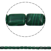 Malachite Beads, Rectangle, 13x18x6mm, Hole:Approx 1.5mm, Approx 22PCs/Strand, Sold Per Approx 15.7 Inch Strand