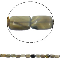 Natural Grey Agate Beads, Rectangle, 13x18x6mm, Hole:Approx 1.5mm, Approx 22PCs/Strand, Sold Per Approx 15.7 Inch Strand