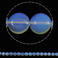 Sea Opal Beads, Flat Round, 16x6mm, Hole:Approx 1.5mm, Approx 25PCs/Strand, Sold Per Approx 15.7 Inch Strand