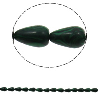 Malachite Beads, Teardrop, 8x13mm, Hole:Approx 1.5mm, Approx 33PCs/Strand, Sold Per Approx 16.5 Inch Strand