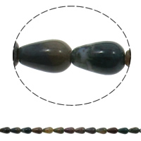 Gemstone Jewelry Beads, Teardrop, natural, 8x13mm, Hole:Approx 1.5mm, Approx 33PCs/Strand, Sold Per Approx 16.5 Inch Strand