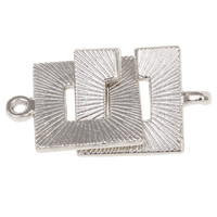 Zinc Alloy Interlocking Clasp, platinum color plated, lead & cadmium free, 15x19x1.5mm, 15x19x1.5mm, Hole:Approx 1mm, 20Sets/Bag, Sold By Bag