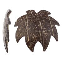 Coconut Pendants, Coco, Leaf, natural, original color, 48x46x5mm, Hole:Approx 2mm, 100PCs/Bag, Sold By Bag